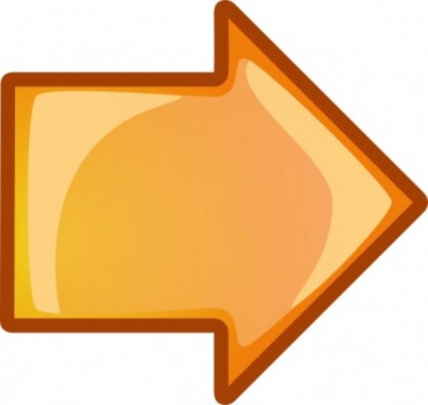 flecha-naranja-derecho-de-clip-art_421935
